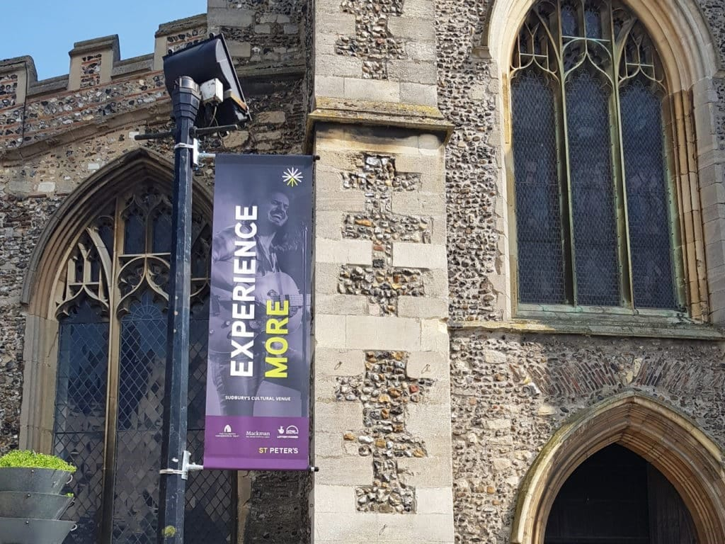 St Peter's Sudbury Cultural Venue - Brand Identity - Banners