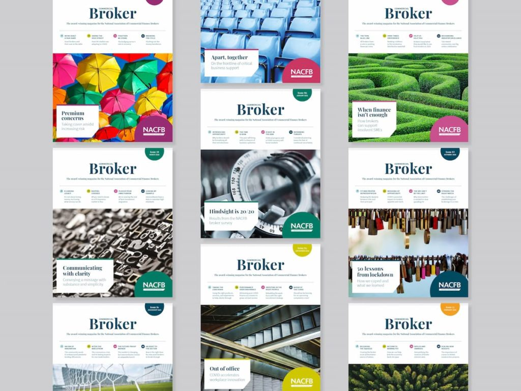 9 different Broker covers